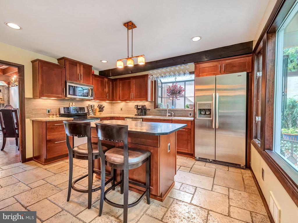Gourmet kitchen with custom 42