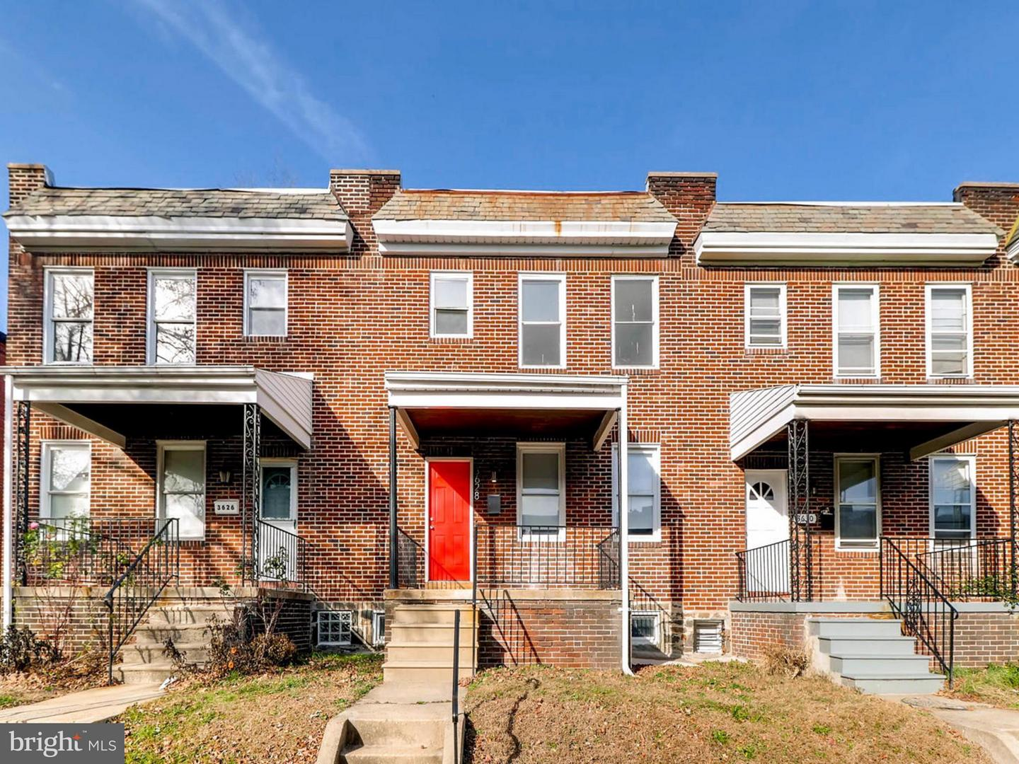 Single Family for Sale at 3628 Elmley Ave Baltimore, Maryland 21213 United States