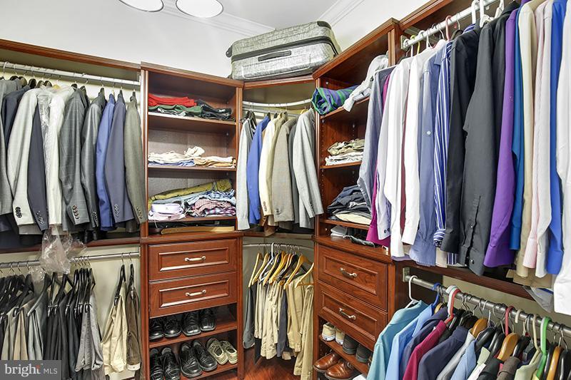One of two Master Bedroom walk-in closets - 6093 DEER RIDGE TRL, SPRINGFIELD
