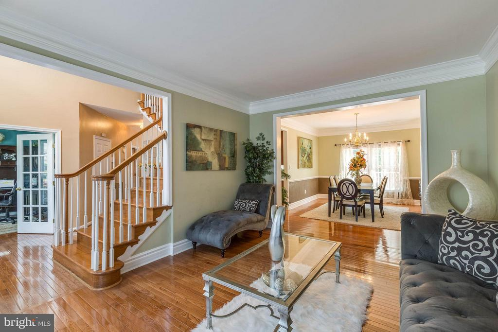 Living Room w/ gleaming hardwood floors - 1801 DERRS CT, FREDERICK