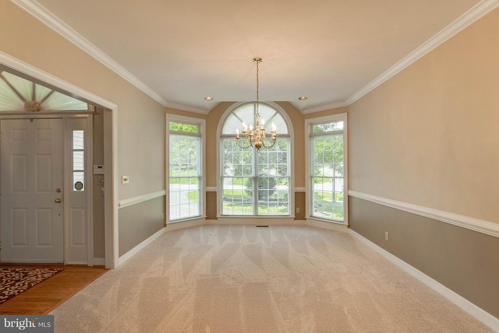 Dining Room is off the foyer and kitchen! - 1 BRIDGECREEK CT, STAFFORD