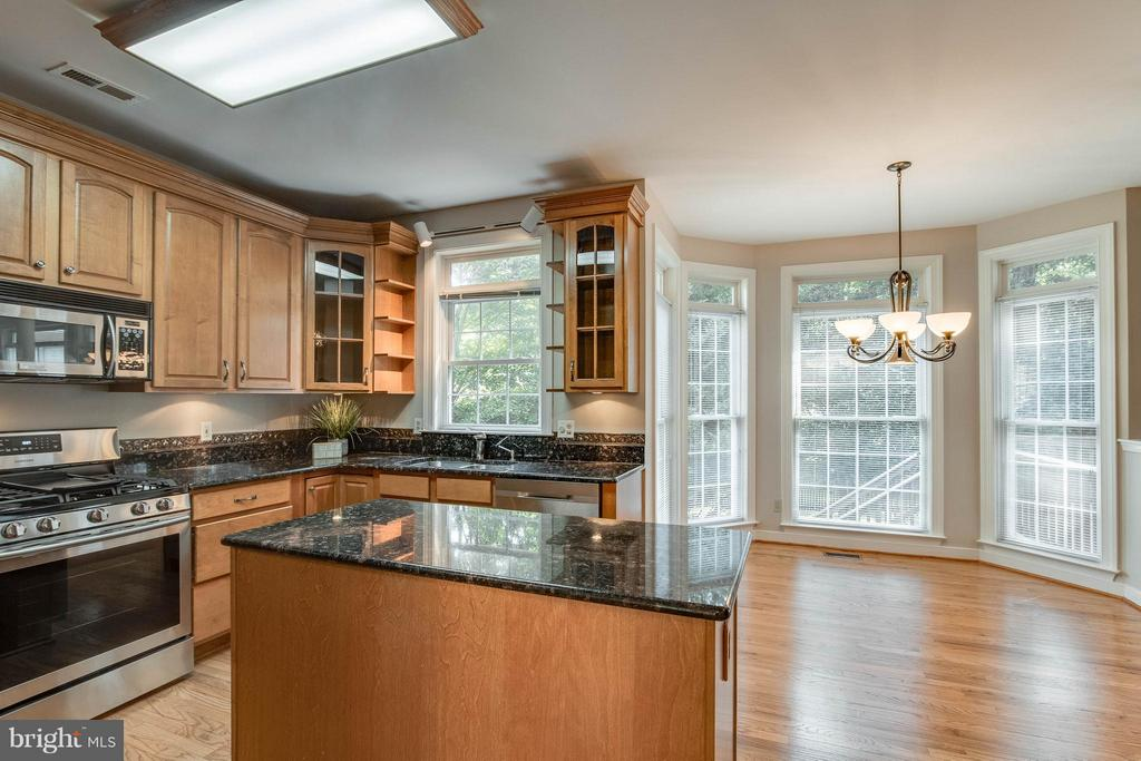 Kitchen Features granite, new stainless appliances - 1 BRIDGECREEK CT, STAFFORD