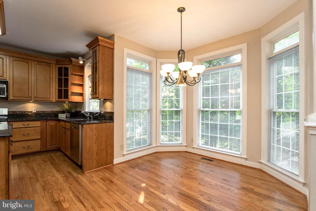 Eat in kitchen table area with large windows - 1 BRIDGECREEK CT, STAFFORD