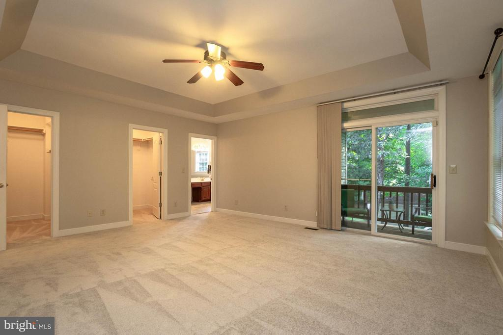 Two walk in closets and private deck!!! - 1 BRIDGECREEK CT, STAFFORD