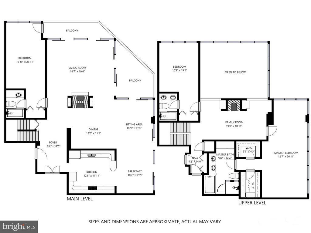 Floor Plan - 1530 KEY BLVD #1324, ARLINGTON
