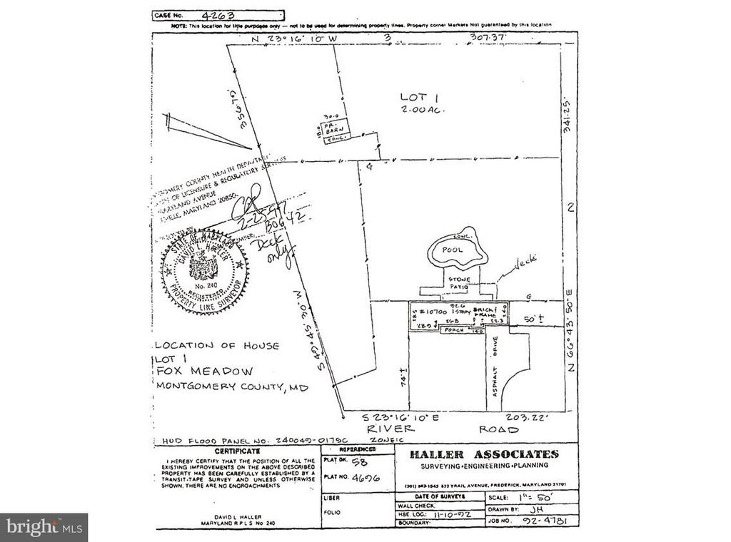 Survey (Pool bulldozed and filled in) - 10700 RIVER RD, POTOMAC