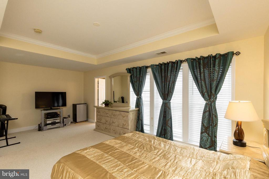 Generous master bedroom w/ tray ceiling - 2373 BROOKMOOR LN, WOODBRIDGE