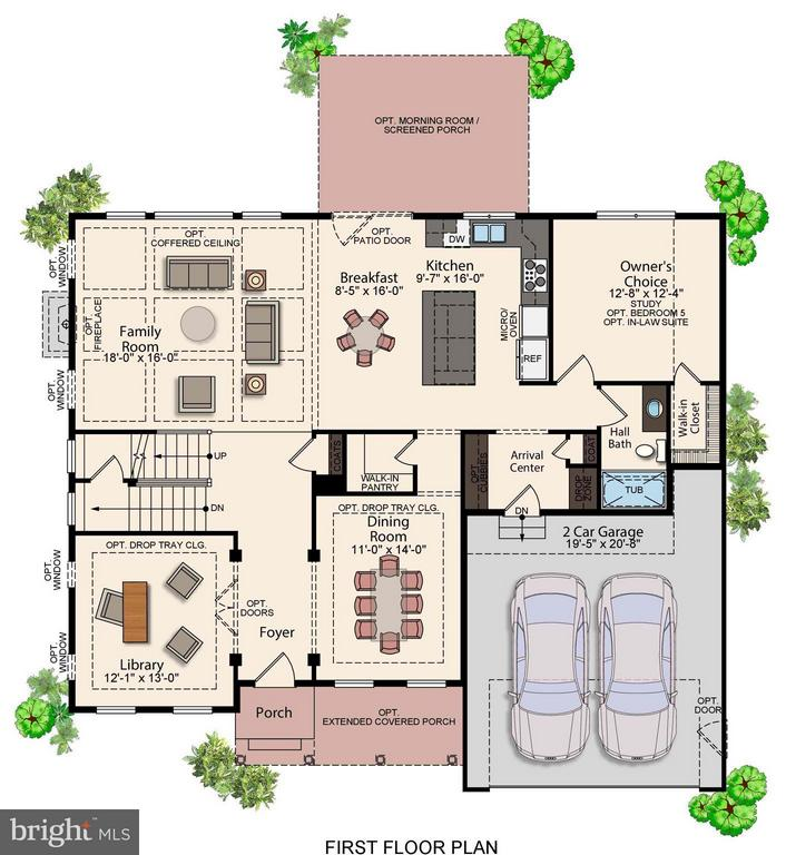 Main Level Floorplan w/ Additional Upgrade Options - 7773 JULIA TAFT WAY, LORTON