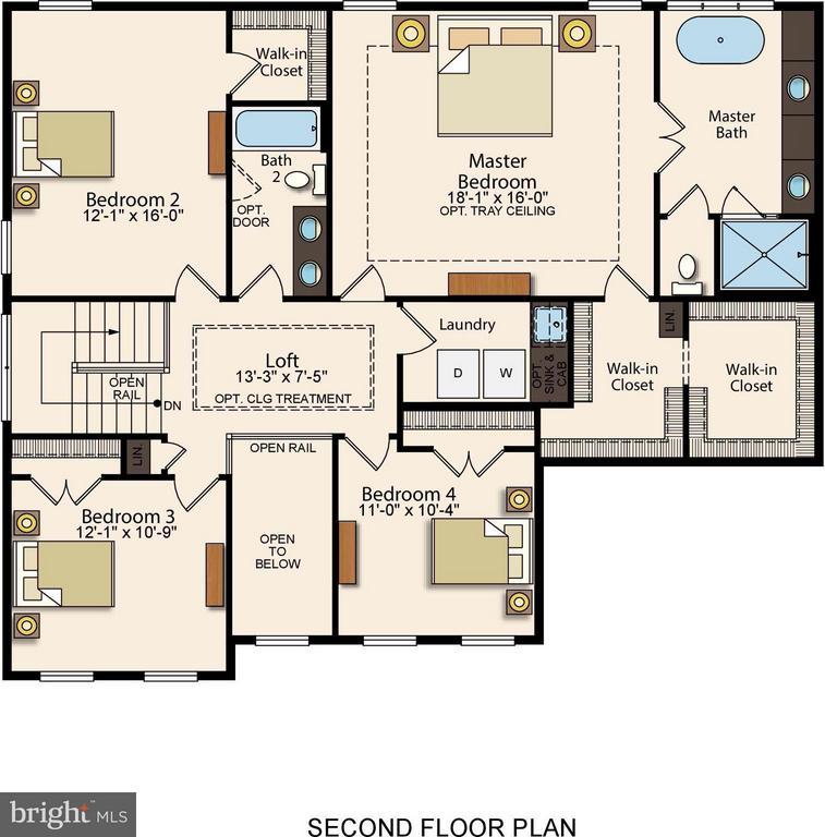 Upper Level Floorplan - 7773 JULIA TAFT WAY, LORTON