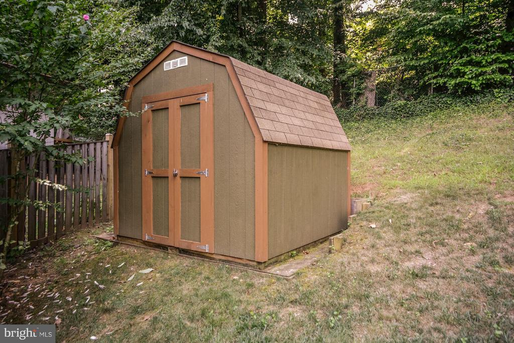 LARGE SHED - CUSTOM PAINTED TO MATCH GARDEN - 6415 RECREATION LN, FALLS CHURCH