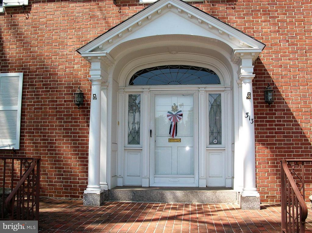 Terraced entry with brick and granite - 313 SECOND ST W, FREDERICK