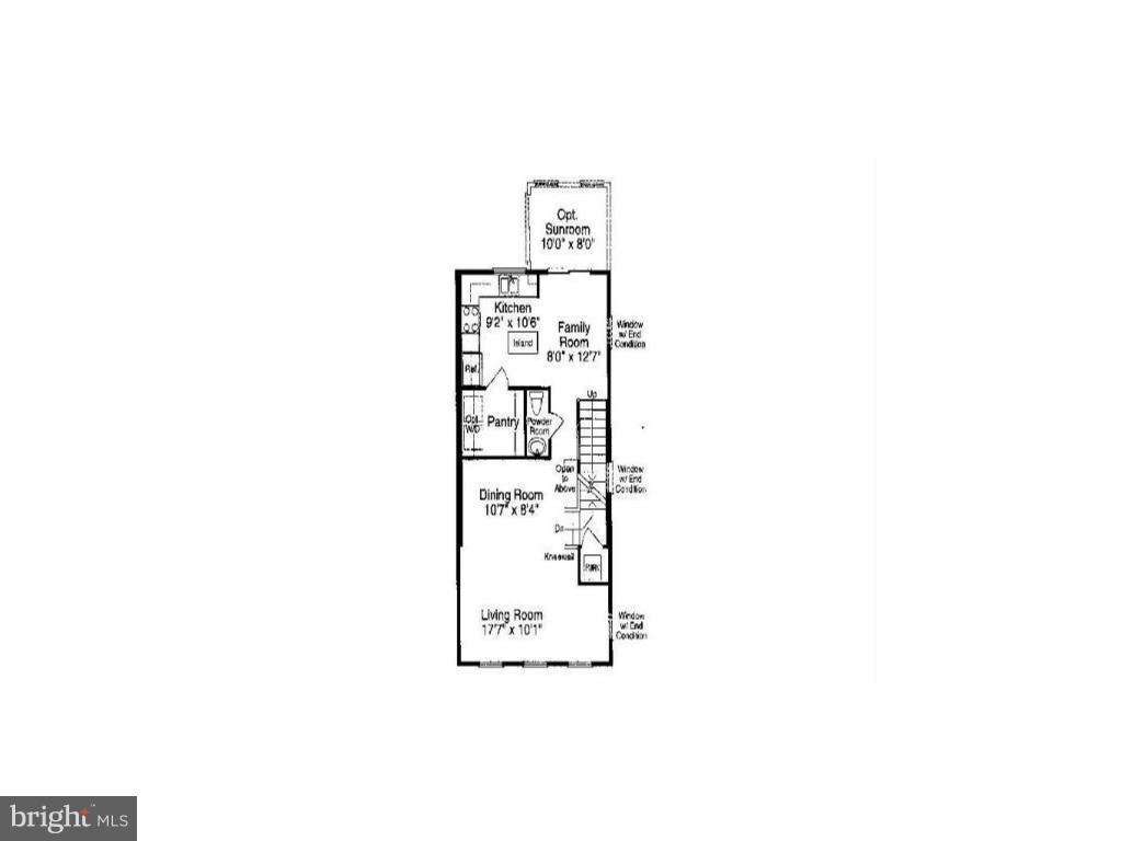 Main Level Floor Plan - 13011 PARK CRESCENT CIR, HERNDON