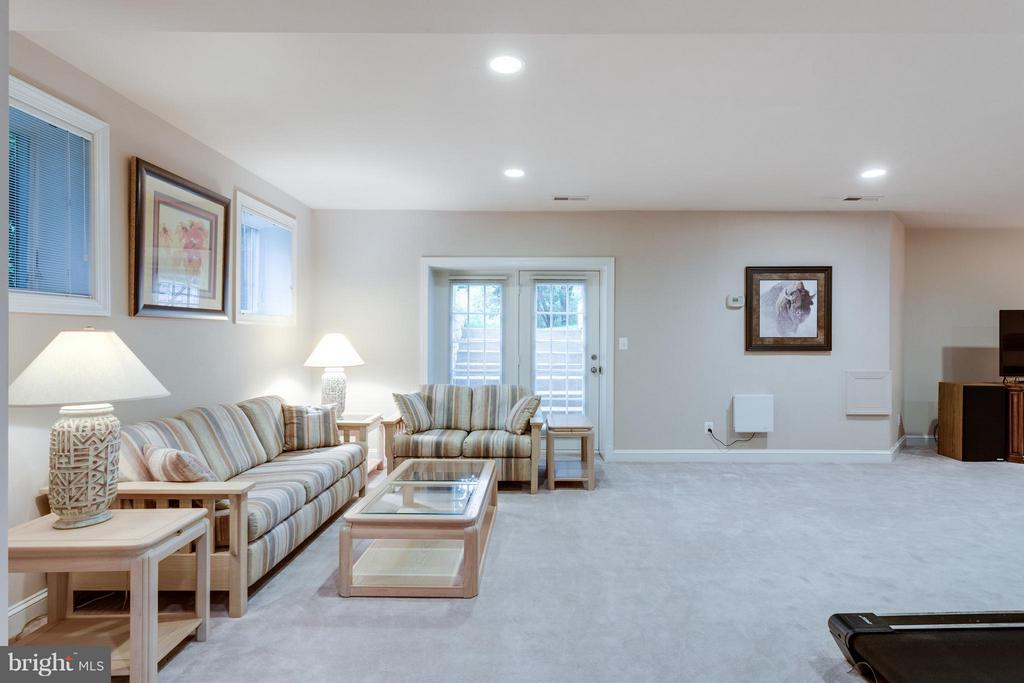 Bright lower level w/lots of natural light - 3242 VALLEY LN, FALLS CHURCH