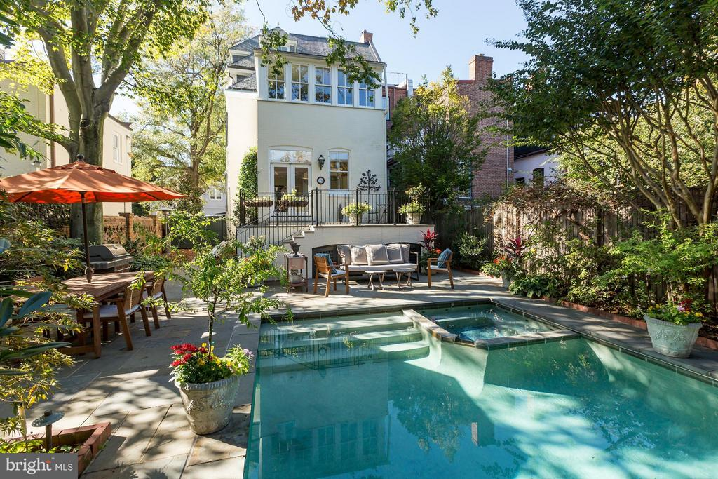 Rear Terrace and Pool - 1515 31ST ST NW, WASHINGTON