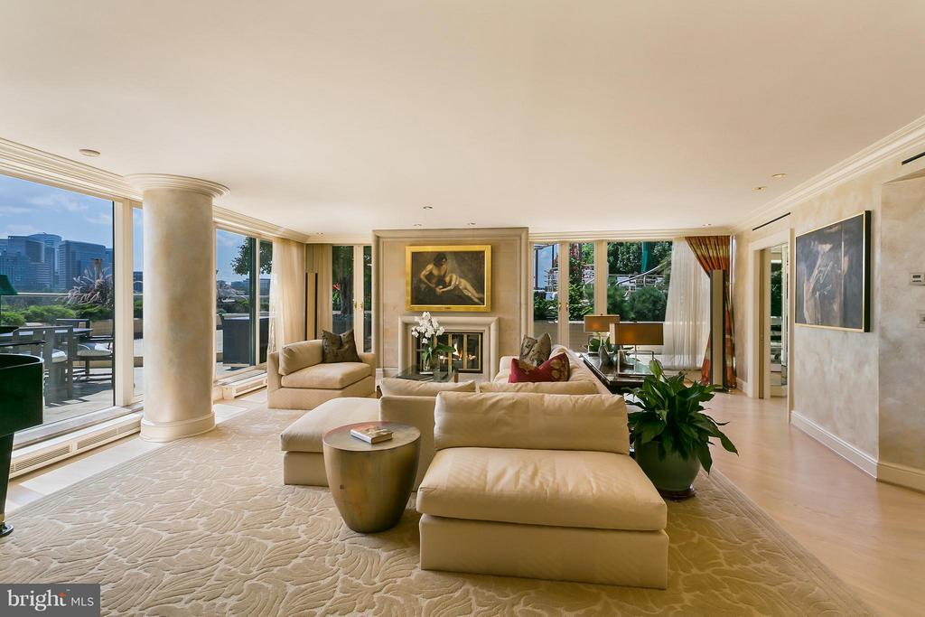 Living Room - 3030 K ST NW #PH217, WASHINGTON