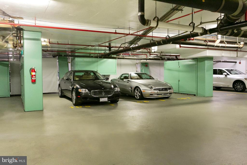 3 Spaces in Private Parking Bay - 3030 K ST NW #PH217, WASHINGTON