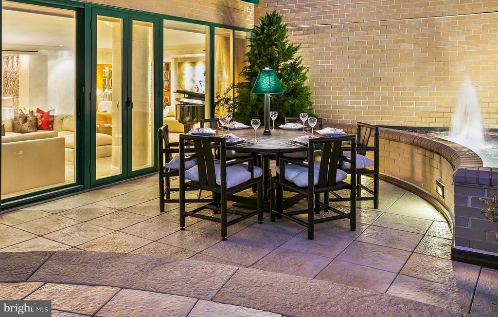 Dining Terrace off Living Room - 3030 K ST NW #PH217, WASHINGTON