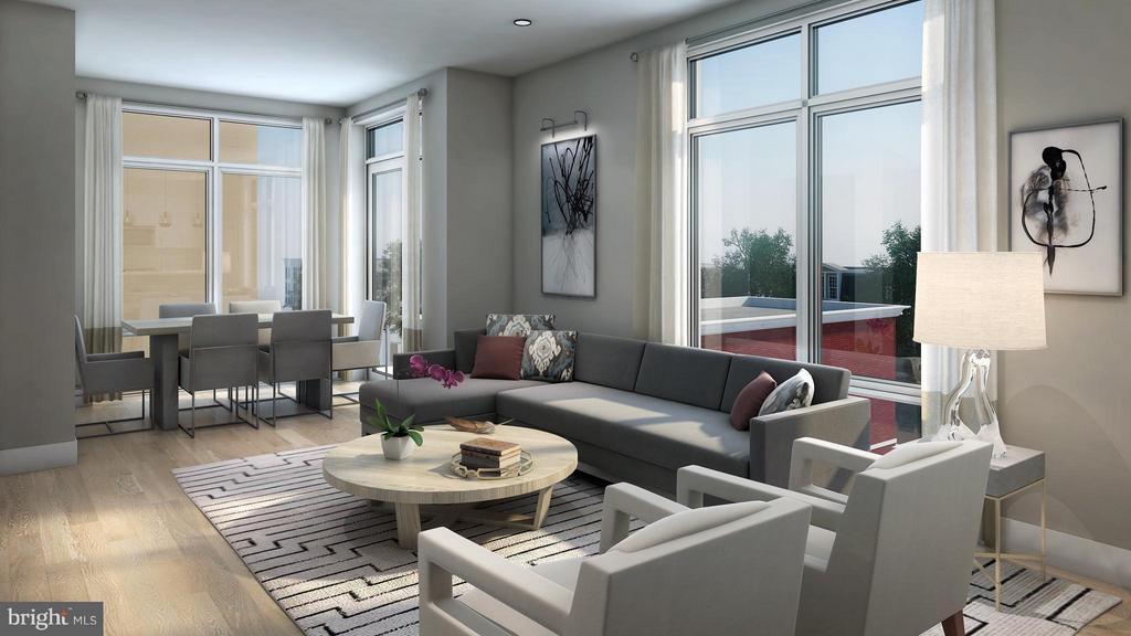 Living room - artist rendering - 1745 N ST NW #303, WASHINGTON