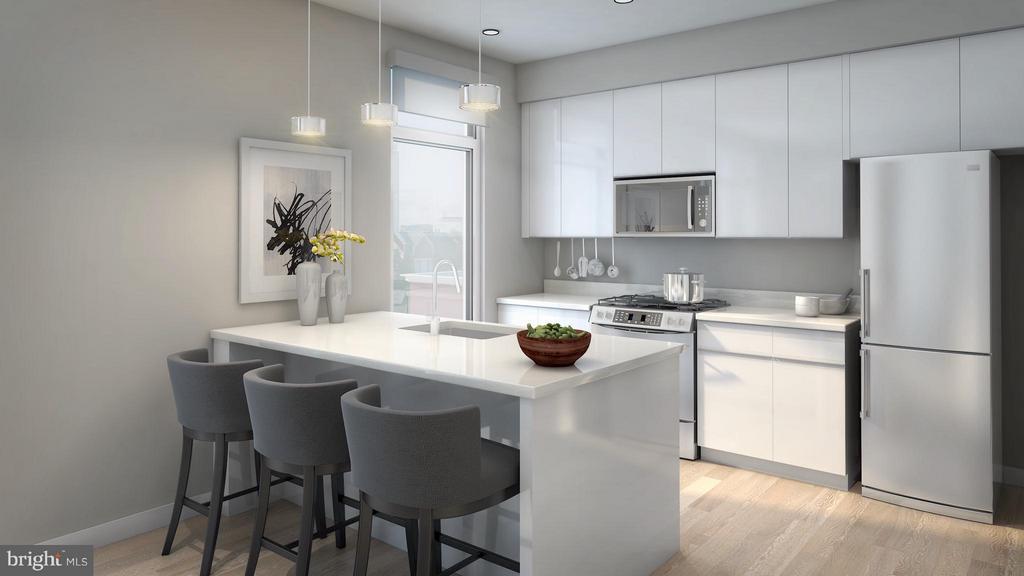 Kitchen - artist rendering - 1745 N ST NW #303, WASHINGTON