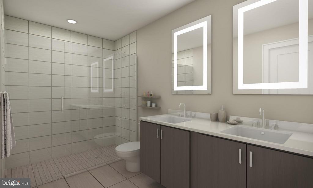 Bath (Master) - artist rendering - 1745 N ST NW #303, WASHINGTON