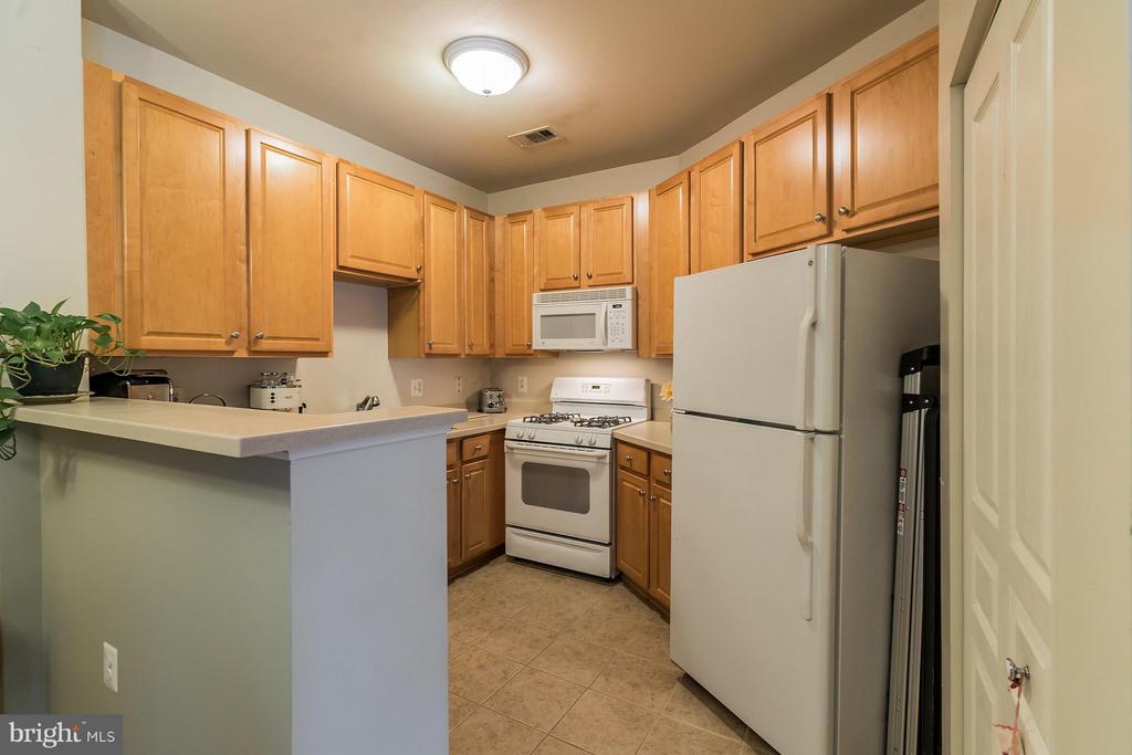 Tile Floor in Kitchen * W/D in Closet to Right - 12001 MARKET ST #152, RESTON