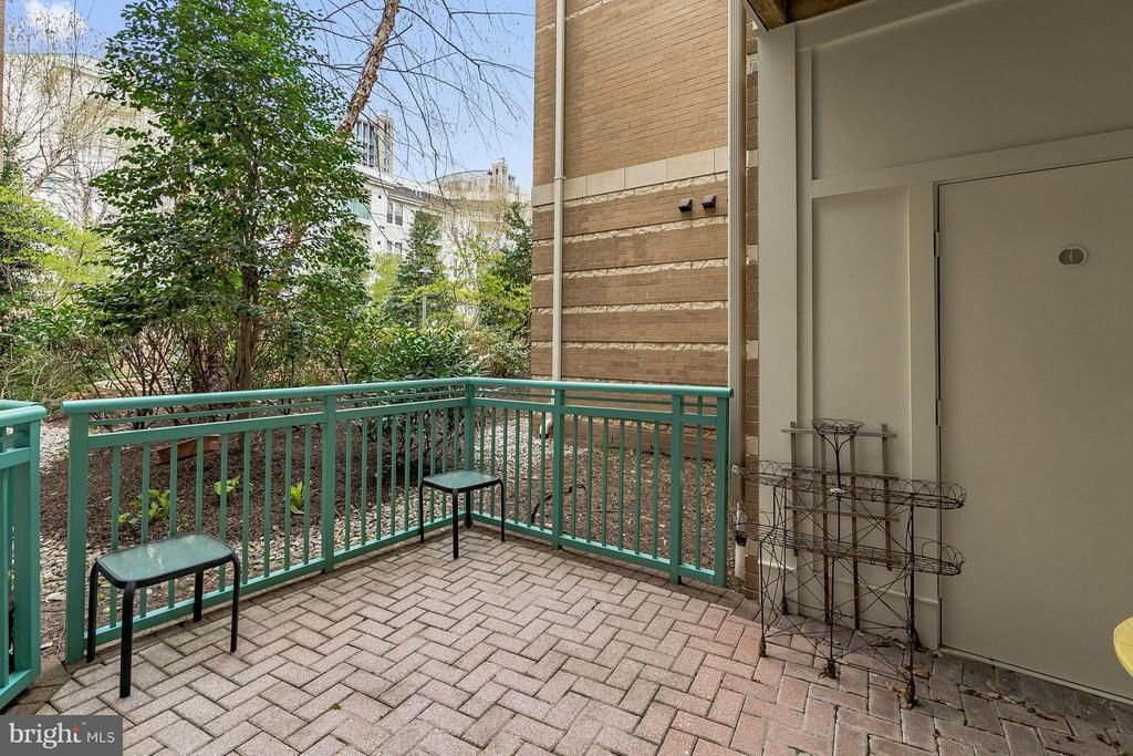 Patio Opens to Beautifully Landscaped Courtyard! - 12001 MARKET ST #152, RESTON