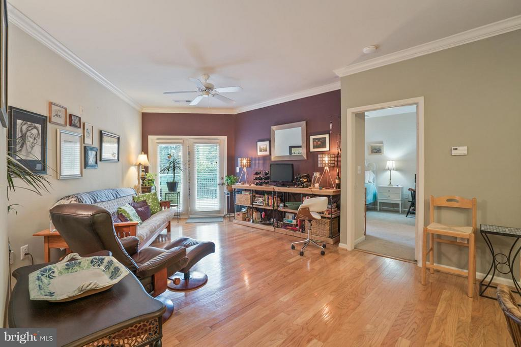 View of Bedroom Entry off Living Room to Right - 12001 MARKET ST #152, RESTON