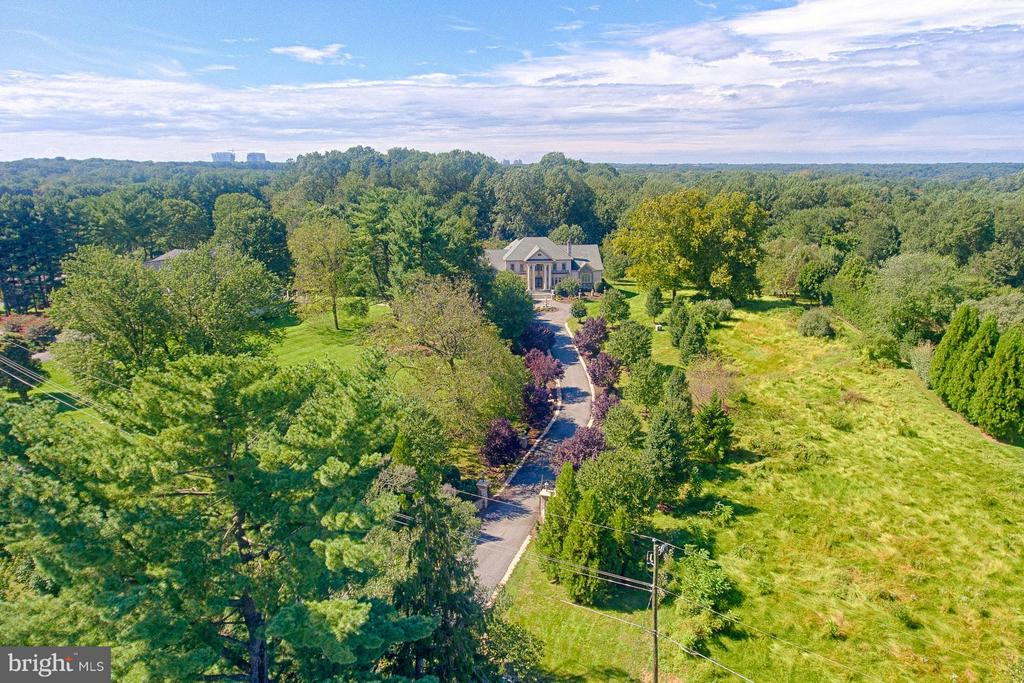 Ariel View of Driveway - 1532 CROWELL RD, VIENNA