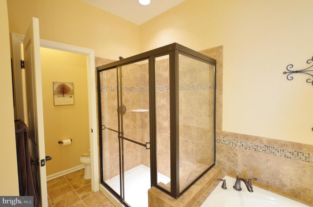 Luxury Master Bathroom with Separate Shower - 21627 ROMANS DR, ASHBURN