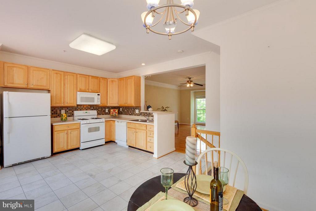Large kitchen - plenty of room for table! - 3626 SINGLETON TER, FREDERICK