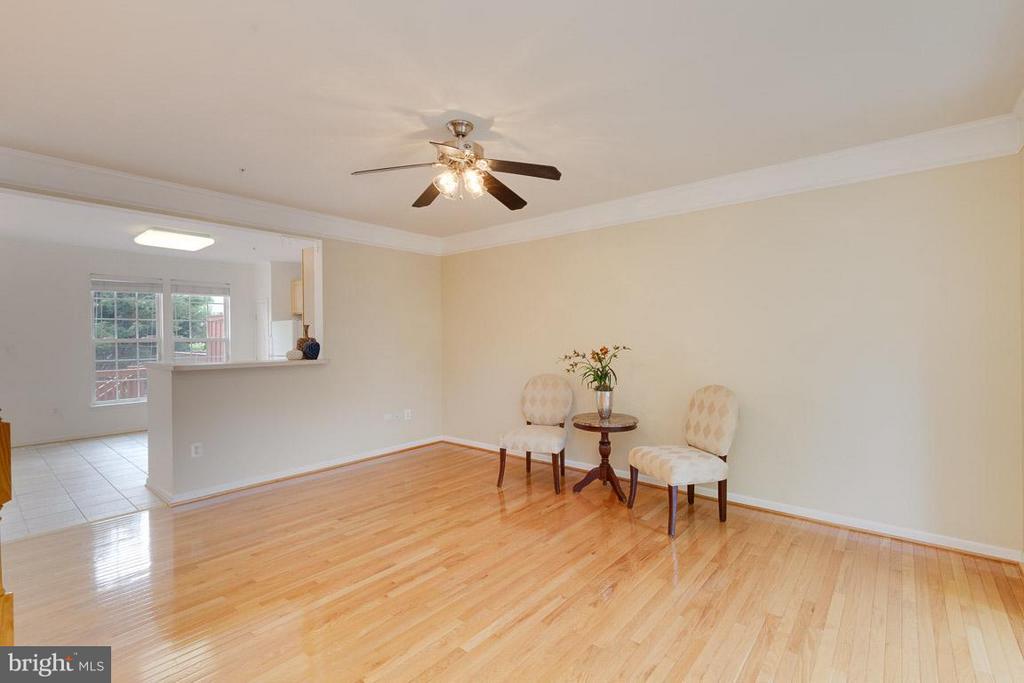 Living Room/Dining room combo - stunning hardwood! - 3626 SINGLETON TER, FREDERICK