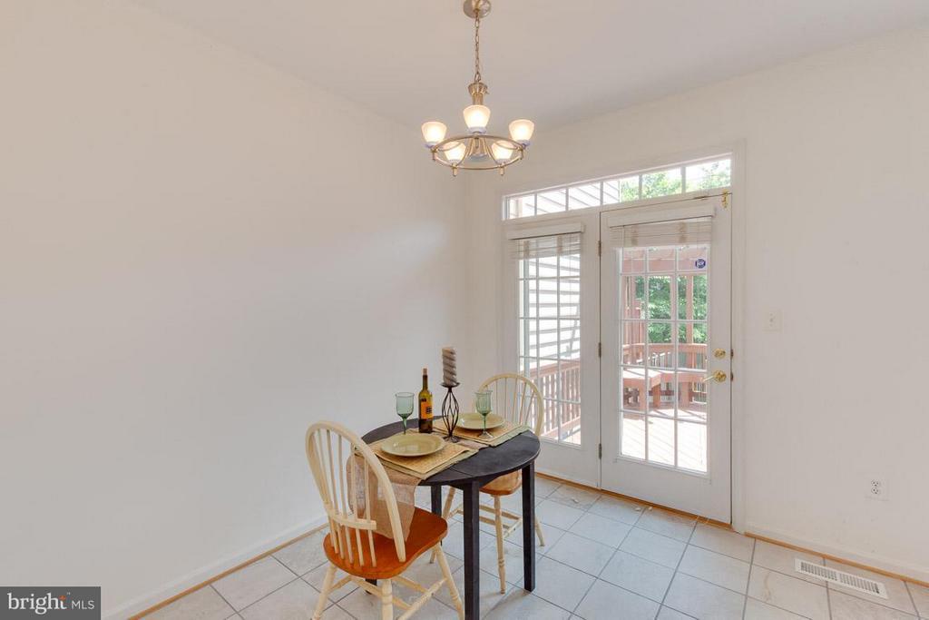 Gorgeous, private deck off kitchen w/ french doors - 3626 SINGLETON TER, FREDERICK
