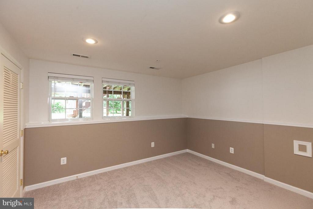 Large lower level rec room with plenty of light! - 3626 SINGLETON TER, FREDERICK
