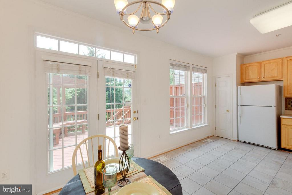 French doors to large deck! - 3626 SINGLETON TER, FREDERICK