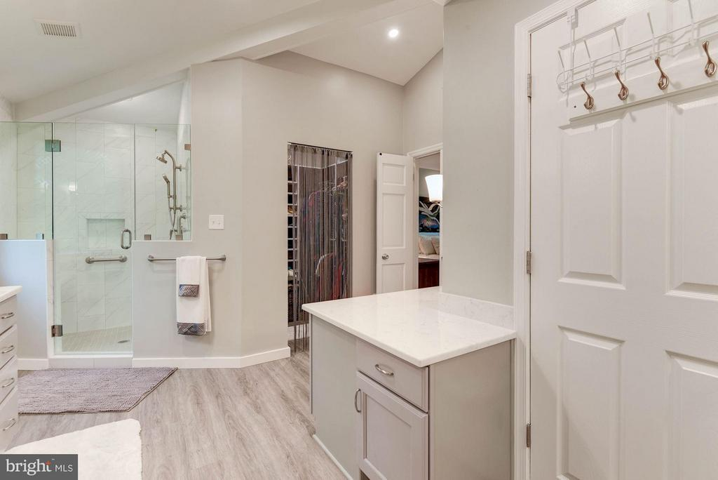 Gorgeously Updated Master Bath - Tub and Shower! - 8220 BRADY ST, ALEXANDRIA