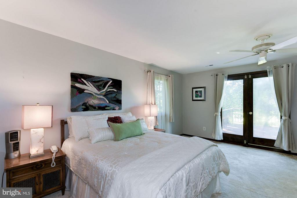 Master Bedroom - Separate Deck with Amazing Views! - 8220 BRADY ST, ALEXANDRIA