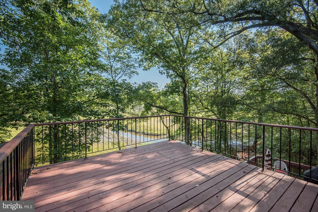 Deck off Master Bedroom with Gorgeous Water Views! - 8220 BRADY ST, ALEXANDRIA