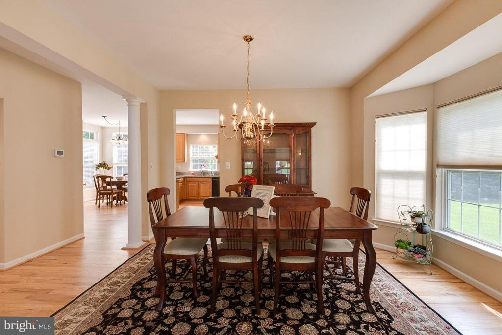 Dining Room with bay windows - 19101 ABBEY MANOR DR, BROOKEVILLE
