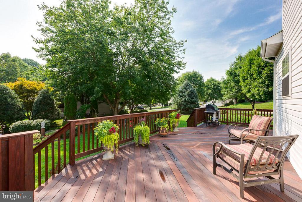 Ipe wood deck, just cleaned & stained - 19101 ABBEY MANOR DR, BROOKEVILLE