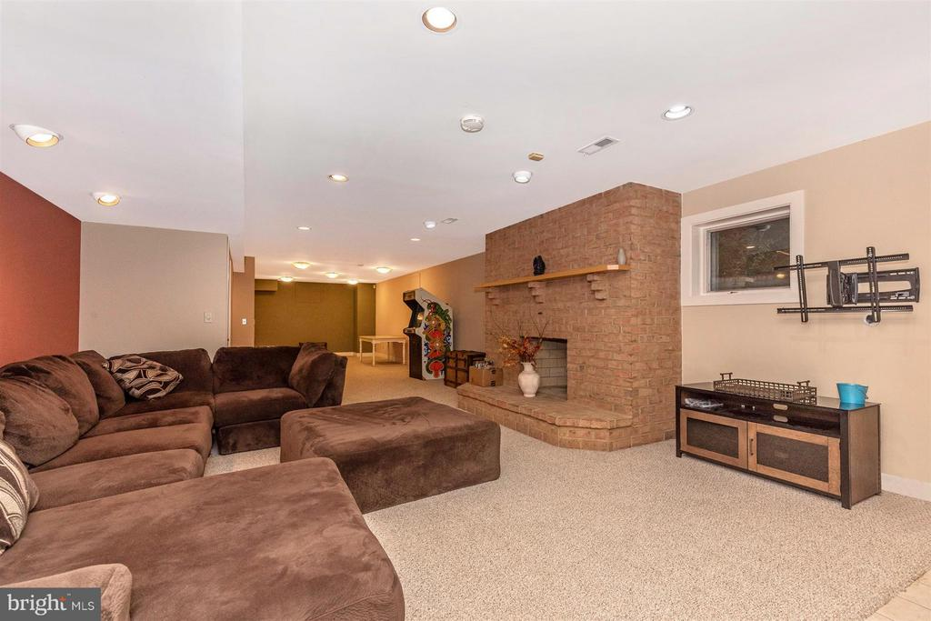 Basement Rec Space with Fireplace - 6303 WINPENNY DR, FREDERICK