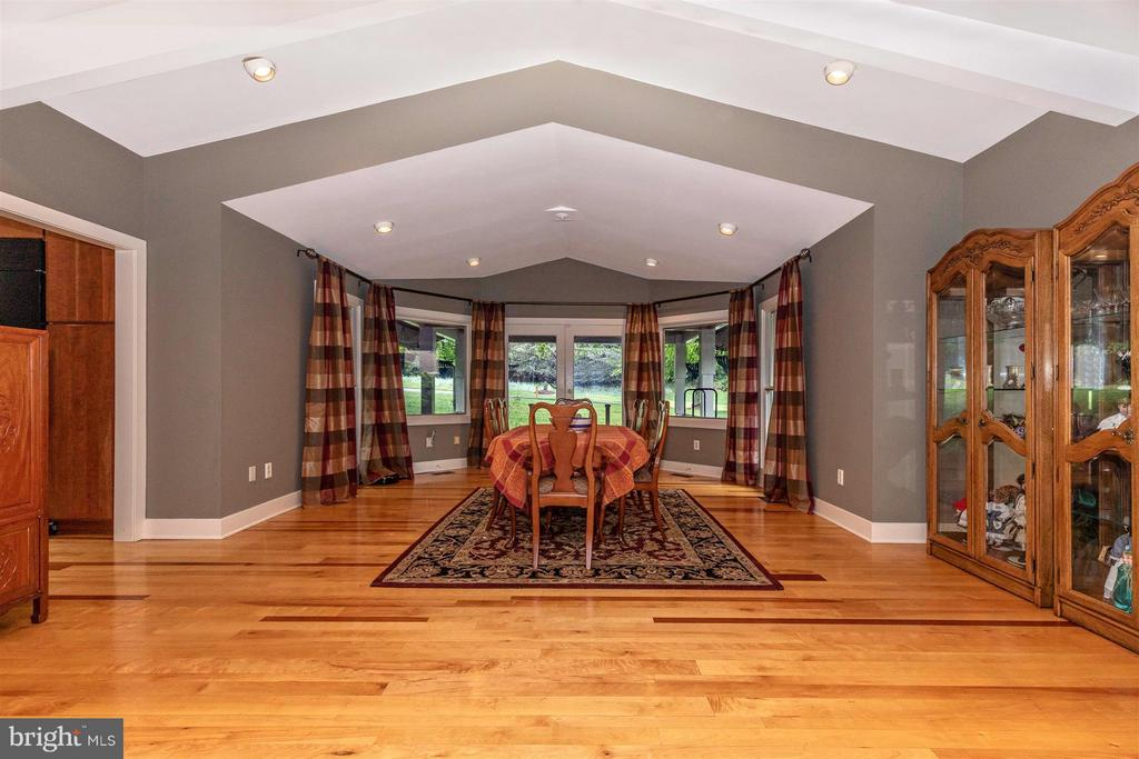 Formal Dining Room with Patio Door and Deck - 6303 WINPENNY DR, FREDERICK
