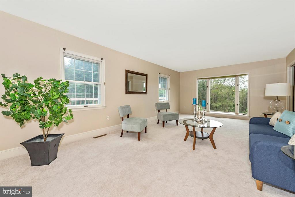 Massive living room with tons of light! - 12403 HILL CT, MOUNT AIRY