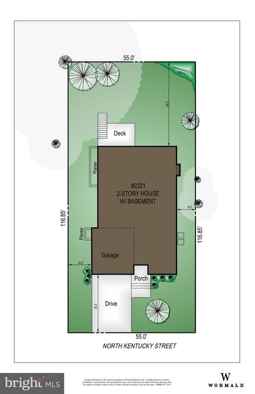Site Plan - 2221 KENTUCKY ST N, ARLINGTON