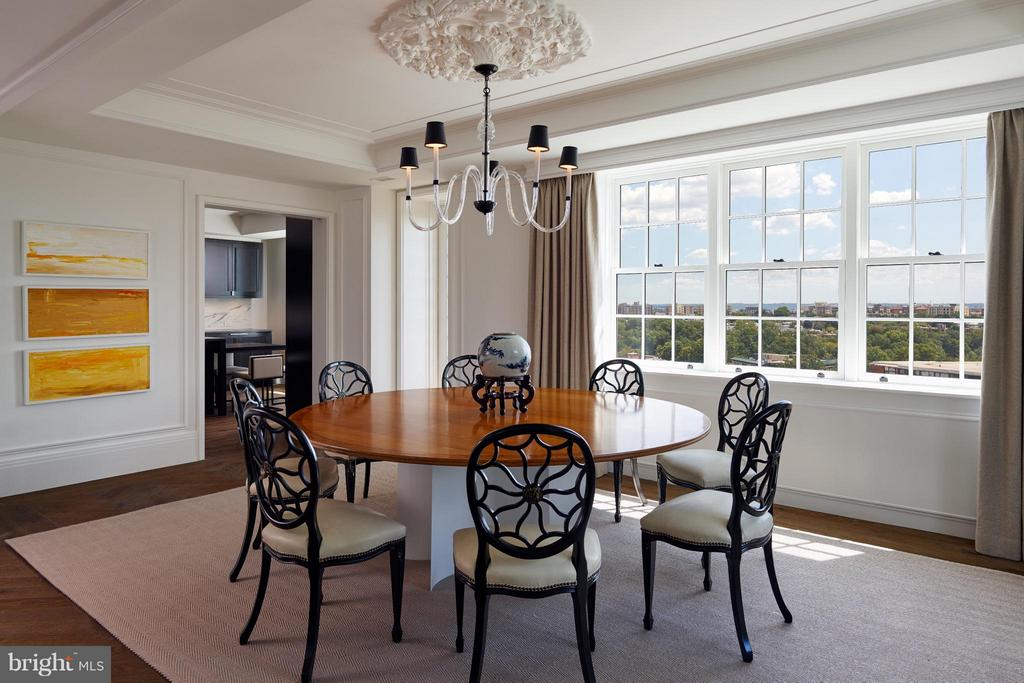 Formal Dining Room with City Vistas - 2660 CONNECTICUT AVE NW #7C, WASHINGTON
