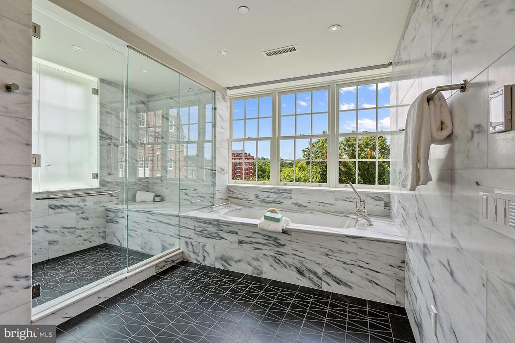 Master Bathroom with Radiant Heated Floor - 2660 CONNECTICUT AVE NW #6D, WASHINGTON
