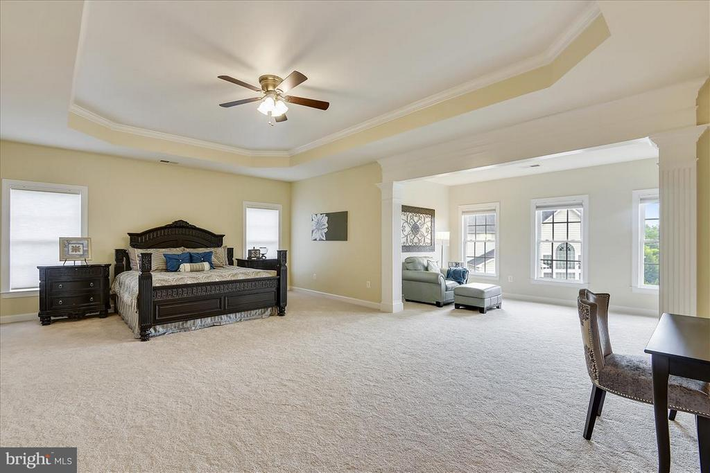 Master bedroom with large sitting room - 4026 BELGRAVE CIR, FREDERICK