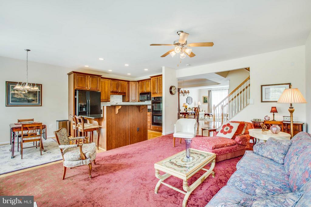 Kitchen and family room - 513 DUNMORE ST, FREDERICKSBURG