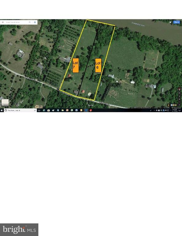 Approximate Boundary lines for Lot 6 + 7 - 1577 SHENANDOAH RIVER LANE, BOYCE