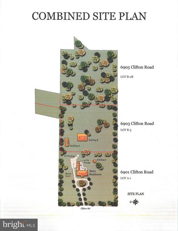 Combined Site Plan - 6901 CLIFTON RD, CLIFTON