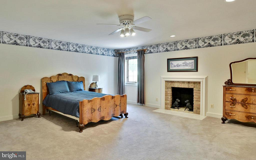 Lower Level: En-Suite Bedroom with Fireplace - 6901 CLIFTON RD, CLIFTON